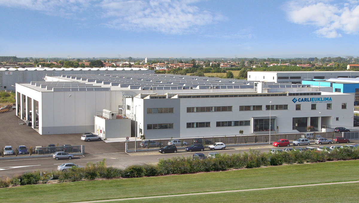 Carlieuklima_image of the production plant in Pordenone Italy